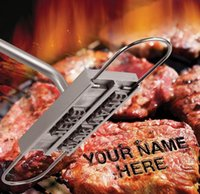 bbq brand names - 2015 New BBQ Meat Branding Iron Wood And Alminum Grilling Utensil With Letters Tool Set For Names And More