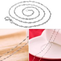 Wholesale 5Pcs Women Silver Plated Wave Chains Necklaces Jewelry quot inch