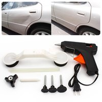 Wholesale New Hot Promotion Car Styling Covers Damage Repair Tool Glue Gun DIY Paint Care Car Repair Tools Kit Fix It Pops A Dent