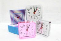 Wholesale Alarm clock creative square small alarm clock cartoon fashion creative alarm clock creative small gift alarm clock