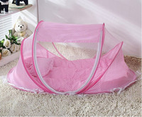 Wholesale New Baby Crib Years Baby Bed With Pillow Mat Set Portable Foldable Crib With Netting Newborn Cotton Sleep Travel Bed