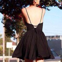 american apparel v neck - 2016040312 New women american apparel straps cross backless Deep V neck cute spaghetti dress s m l blue striped dresses