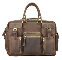 best computer phone - Crazy Horse Leather Man Bags Shoulder Bags Vintage Cowhide Men Laptop Big Capacity Shoulder Bag Best Selling Man Bag Messenger Bag