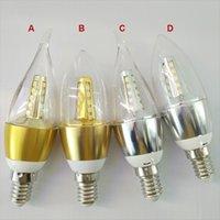 Wholesale Top LED E14 E27 w w w w High Power Led Candle bulb led lamp lighting chandelier bulbs light