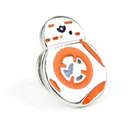 bb onyx - New Arrival High Quality Charm Cute BB BB8 Lapel Pin Brooch Emblem Badge Star Wars Mask Brooches Pins For Women And Men