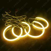 auto halo lights - Car CCFL Halo Rings Angel Eye Light Headlight Kits for BMW E46 E36 E39 E318A04 Auto Light Yellow