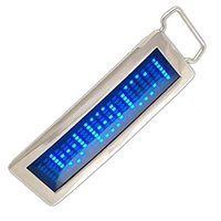 Wholesale Cool Design Personalized Programmable DIY Text Flash LED Chrome Scrolling Disc Belt Buckle for Party Cosplay