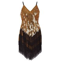 Wholesale PrettyGuide Women Vintage Great Gatsby Art Deco Sequin Embellished Fringed Hem Cocktail Flapper party Dress JBL815