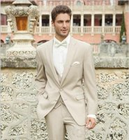 best destinations - New Arrival Two Buttons Groom Tuxedo Notch Lapel Best Man Groomsman Suit Men Destination Wedding Suits Formal Suit Jacket Pants Vest