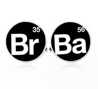 accessory quotes - 1Pair Breaking Bad cufflinks Silver plated Br Ba cuff links Accessories quote jewelry unique Wedding gifts for men