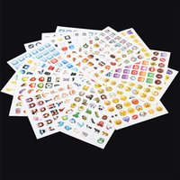 Wholesale 19sheets set Fashion Emoji Round Sticker Die Cut Stickers Shell Paper Notes Notebooks