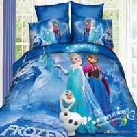 belle ice - 100 cotton home textile twill cartoon anime Bedding set Bedclothes Duvet cover set Comforter sheet ice mountain belle S214