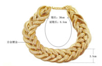 alice choker - New SBY0316 Fashion Bohemian gold woven chain Chokers chunky big statement necklaces Cheap necklace alice