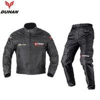 armor pants - DUHAN Professional Men s Motorcycle Motocross Off Road Racing Jacket Body Armor Riding Pants Clothing Set