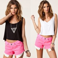 Wholesale Reliable Boutique Fashion Tanks Camis Summer New Women Tank Tops Sleeveless Short Sexy Blank Singlet Ladies Vest