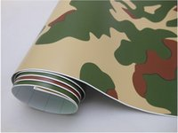 adhesive protective film - Forest Camouflage Car Protective Vinyl Film Wrapping Sticker Self adhesive with Air Drains m Roll Fedex