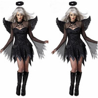 adult movies - Adult Costume Sexy Black Angel Wings Deguisement Sexy Movie Cosplay Costumes Halloween Costumes Women Cosplay Devil DisfrazCE374