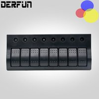 auto groups - 8 group Car Boat Rocker Switch Panel Socket Auto LED Switch Waterproof Rocker Switch