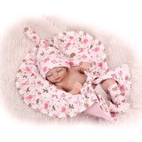 bath collections - 27CM Reborn Baby Doll Lifelike Girls Vinyl Baby Toys Cute Soft Reborn Bebe Toddler Collection Dolls Kids Birthday Gifts