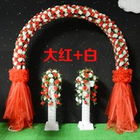 Wholesale Snow yarn marriage ceremony opening the whole door doors happy silk flower arches road lead wedding props