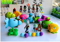 Wholesale 9 Style New Popular Game PVZ Plants vs Zombies Peashooter PVC Action Figure Model Toys CM Plants Vs Zombies Toys
