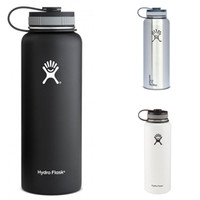 Wholesale Outdoor Sports Water bottles Hydro Flask oz oz Vacuum Insulated Stainless Steel Water Bottle Wide Mout Flat Cap