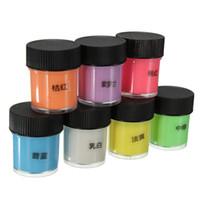acrylic paint colors - 12pcs ml Graffiti Party DIY Glow in the Dark Acrylic Luminous Paint Bright Pigment Party Makeup Decor Colors WJ1324
