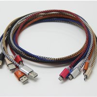 Wholesale Metal Micro USB Cable USB m Suitable for Android i5s s Micro smart phones