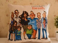 Wholesale tv show situation comedy Modern Family Cushion cover comic figure pillow case for car Back Support Home Textile Cotton fabric