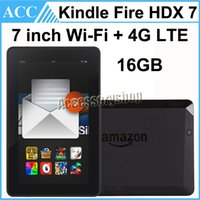 Wholesale Refurbished Original Kindle Fire HDX inch GB Wifi G LTE Unlocked Qualcomm GHz Quad Core th Generation Android Tablet PC Black