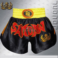 Wholesale New Fashion Mens MMA Boxing Fight Shorts MMA Boxing Trunks Muay Thai Martial Arts Boxing Sanda Shorts Combat Pants Shorts S XXXL