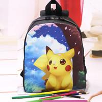 Wholesale 50pcs New Poke go Children Backpack Kindergarten Kid School Bag Pikachu backpacks Baby Girl Boy Primary School Bag B800