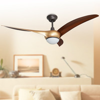 Wholesale 2016 noiseless ceiling fans lights led inches cm golden three blade ABS fans remote control indoor led ceiling fan V V