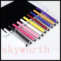 Wholesale 2 in Stylus Pen Capacitive touch pen for iPad3 ipad mini P7510 with ink pen