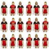 Wholesale Belgium Hazard Women soccer football jersey thai quality Belgium shirt De Bruyne soccer football jersey