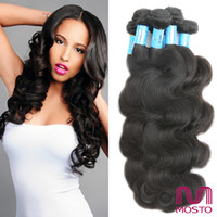 Wholesale 7A Brazilian Hair Human Hair Weaves Malaysian Indian Peruvian Hair Bundles Dyeable Body Wave Human Hair Extensions MOSTO hair