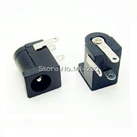 Wholesale Hot Sales High Quality DC Black and White DC Power Jack Socket Connector DC005 mm socket Round the needle