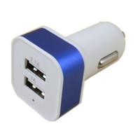 En la promoción! 2 adaptador del cargador del coche del puerto dual del USB para el teléfono Android Iphone5 6 6plus en stock