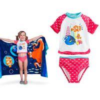 beach babies swimwear - 2016 New Girls Kids Nemo Marlin Dory Swimsuits Finding Nemo Dory Summer Cartoon Swimwear Swimsuit Baby Kids Beach Swimming Clothes pc set