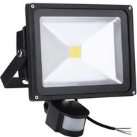 Wholesale 10W W W W LED Floodlights PIR Motion Sensor IP65 Waterproof Security Outdoor Lighting Garden Door Spotlights Flood Lights
