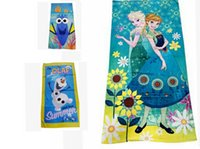 bathroom plus - Kids Mermaid towel plus size cartoon Beach Towel Finding Nemo Finding Dory Frozen Minnie Swim Towels Buzz Bathroom Towels KKA445