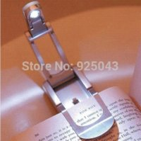 Wholesale New Super Bright Mini Portable Foldable Clip On LED Book Reading Light Bed Night Lamp Flashlight