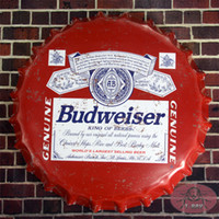 Aluminum aluminum round bars - Vintage Tin Sign Famous American Beer around World Round Beer sign Bottle Cap Art Painting Bar Pub Tavern Wall Decor cm RM