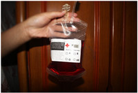 Wholesale Blood Energy Drink Bags Clear Food Grade Reusable PVC Material Halloween Pouch Props Vampire for Party Par Pub