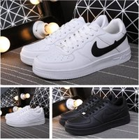air drilling - 2016 forceing one men women original goods quality AF1 high white with AIr drill size