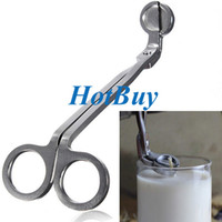 Wholesale Candle Wick Oil Lamp Stainless Steel Trimmer Scissors Cutter Snuffers Tool Silver