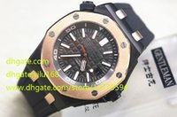 asia band - High Luxury Top Quality Mens Watch Offshore Diver M Rubber Bands black Dial Asia Automatic Movement Men s Gold case Watches