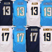 Wholesale for sale Lance Alworth phillip rivers Keenan Allen Chargers men elite Jersey Embroidery logo Welcome Mix Orders