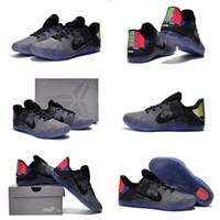 b tv - With shoes Box Kobe XI EM Elite Low TV Wolf Cool Grey BLACK Men Basketball Sport Sneakers Shoes