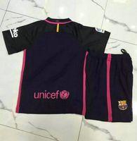 barcelona shirt - _ barcelona away kids soccer jerseys customzied name number top quality soccer uniforms football shirts shorts